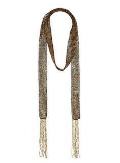 Gold bead scarf