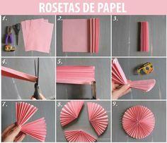 Diy Paper Rosettes Large Baby Shower Ideas For 2019 Bridal Shower Decorations, Paper Decorations, Diy And Crafts, Paper Crafts, Diy Papier, Diy Party, Party Ideas, Diy Tutorial, Pinwheel Tutorial