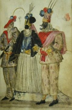 masked players, 1588