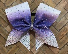 Rhinestone cheer bow, purple bow, cheerleader gift, cheerleading, Ombre bow, hot pink bow, bling cheer bow, cheap cheer bow, black friday
