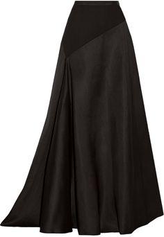 Lanvin Jersey-Paneled Wool and Silk-Blend Maxi Skirt