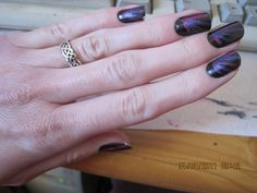 Decorative - some black with OPI Ink Suede and La Paz-itively Hot Matte