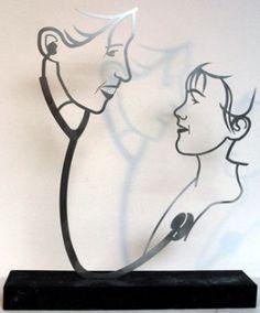 #blog http://www.anjavanrijen.nl/een-cadeau-zoeken-voor-een-kinderarts/ #kunstinopdracht rvs lijnbeeld, kunstwerk voor kinderarts #KunstVenlo #KunstTegelen
