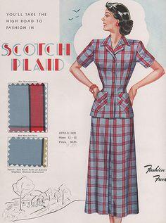Scotch Plaid ~ Fashion Frocks 1949