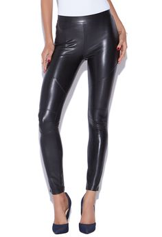 Get edgy with the Faux Leather Moto Legging. This stretchy pair adds a cool flair to any outfit all while being comfy.