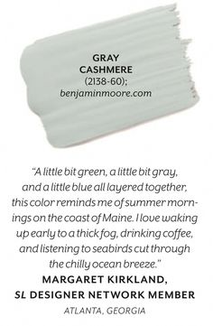 Benjamin Moore Gray Cashmere our bedroom Interior Paint Colors, Paint Colors For Home, Paint Colours, Colours 2017, Stucco Colors, Interior Plants, Room Colors, Wall Colors, House Colors