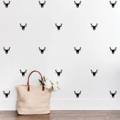 Reindeer Face Wall Decal Stickers | Typologie Paper Co Brother In Law Gift, Father In Law Gifts, Cousin Gifts, Modern Wall Decals, Vinyl Wall Art, Wall Decal Sticker, Nursery Stickers, Wall Stickers, Reindeer Face