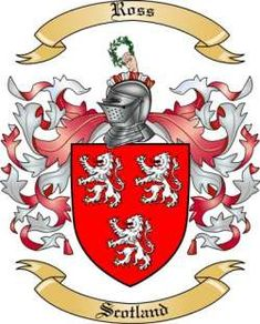 ross Family Crests And Shields | Ross Family Coat of Arms from Scotland