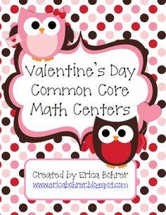 Valentine's Day Common Core Math Centers