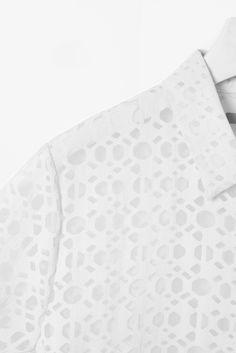 cos sheer geo pattern dress shirt