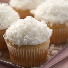 Simple, yet delicious Almond Coconut Cupcakes.