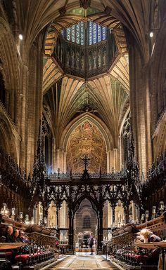"justbmarks: "" Ely Cathedral: choir, lantern & nave, Cambridgeshire, UK """