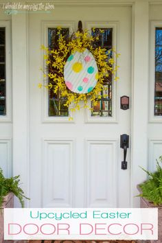 Upcycled Easter Door