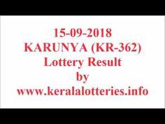 Kerala lottery result of Karunya KR-362 on 15-09-2018