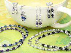 Simple Beauty Swarovski Crystal Bracelet & Earrings