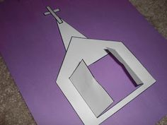 Church craft idea -- could modify to relate to Jesus talking about the importance of being in his Father's house Jesus Crafts, Bible Story Crafts, Bible School Crafts, Preschool Bible, Bible Activities, Preschool Crafts, Bible Stories, Sunday School Activities, Sunday School Lessons