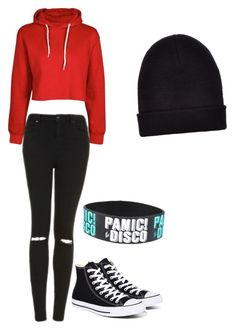 """""""Untitled #26"""" by lauracox88888 on Polyvore featuring Topshop, Converse and New Look"""