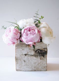 Rustic Peony Centerpiece Harlowe James | A Marin County Based Lifestyle Blog