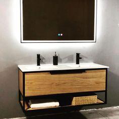 Nieuwe modellen: eiken/zwart RVS badkamermeubelen. #badkamerinspiratie #badkamer... Foto's,  #badkamer #badkamerinspiratie #badkamermeubelen #eiken #modellen #nieuwe #zwart