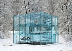 Transparent life with these concept Glass Houses, by Santambrogio Milano, are located in Milan, Italy.
