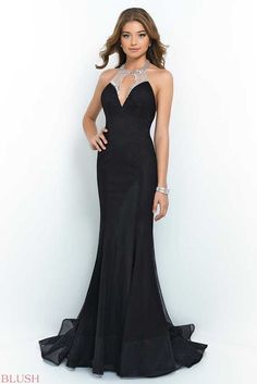 Black Blush By Alexia 9921 Mermaid Evening Gown