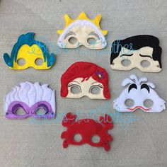Mermaid Mask Set of 7
