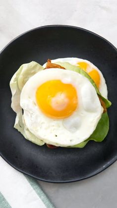 Who says you need bread for a BLT when you can stick your bacon, lettuce, and tomato between two perfectly good eggs?