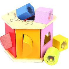 Hape Shake Hape classic six sided wooden shape sorter with matching coloured shapes provides stimulating and rewarding play for inquisitive little minds. This attractive multi-sensorial toy helps promote motor s http://www.MightGet.com/january-2017-12/hape-shake.asp