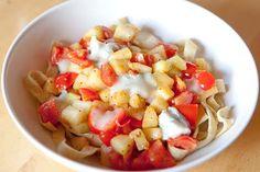 LCHF-pasta med squash, tomat och gorgonzola - Erikas LCHF till vardag och fest