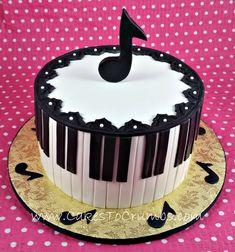 Gallery of Cakes Music Birthday Cakes, Music Cakes, 50th Birthday, Chocolate Almond Cake, Almond Cakes, Dessert Ideas, Cake Ideas, Happy Birthday To Me Quotes, Music Note Cake
