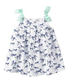 Another great find on #zulily! White Zebra Swing Top - Infant, Toddler & Girls by Gymboree #zulilyfinds