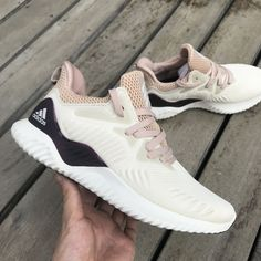 dacef44a8 Adidas Alphabounce Womens Shoes Beyond Ecru Tint Ash Pearl DB0206 In-Hand -  AnpKick.