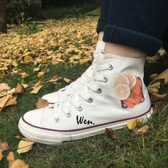 Wen White Canvas Shoes Design Custom Five Food Recipes High Top Men Women's  Sneakers For Christmas