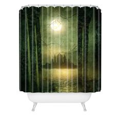 Viviana Gonzalez The moon is singing Shower Curtain   DENY Designs Home Accessories