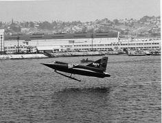 Sea Dart taking off.