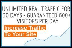 Get Unlimited Traffic to your Website, Blog or cpa offer for 30 days. Guaranteed 600+ visitors/day http://p.pw/baexg8