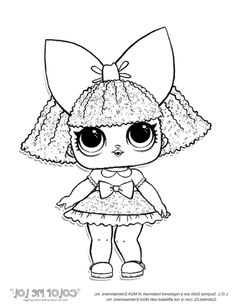 LOL Surprise Doll Coloring Sheets Coconut Q.T Livi 6th