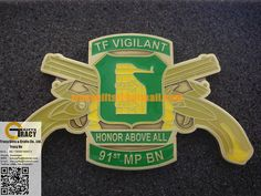 91st MP BN CROSS PISTOLS WITH...