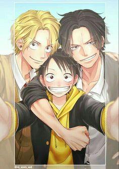 Luffy, Sabo y Ace