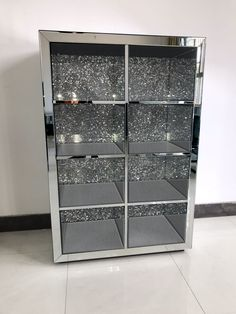 Diamond Crush Shoe/Bag or Display Cabinet - Mirrored furniture - Sparkle Diamond - House of Sparkles