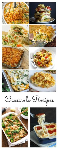 I'm a fan of quick and easy meals that the whole family will love! I decided that I would compile a roundup of Casserole Recipes for those busy weeknights.