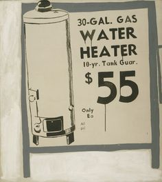 Andy Warhol. 'Water Heater'. 1961