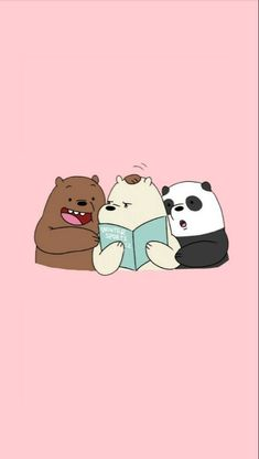 Wallpaper, Feeds & Lockscreen - ──ꪶཷ୭ we bare bears wallpaper Cute Panda Wallpaper, Bear Wallpaper, Kawaii Wallpaper, Cute Wallpaper Backgrounds, Wall Wallpaper, We Bare Bears Wallpapers, Panda Wallpapers, Cute Cartoon Wallpapers, Moving Wallpapers