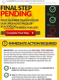 Milled has emails from Publishers Clearing House, I RRojas Claim My Ownership To Win This Prize Now Today...