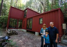 Shipping Container Cabin in the Woods