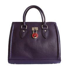 Vintage Gladstone Style Purple Leather Handbag - Down to £69.99 from £94.99