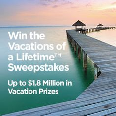 I just entered the Diamond Resorts Vacations of a Lifetime Sweepstakes for a chance to win over $1.8 million in vacations! Enter here.