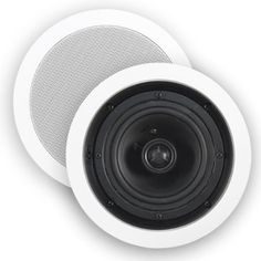 """HTD MP-R50 Multi Purpose 5 1/4 In-Ceiling Speakers (Pair) by HTD. $59.00. The MP-R50 In-Ceiling Speaker is ideal for whole house audio and general listening applications in smaller rooms (up to 150 square feet). Delivering impeccable stereo sound to any room in your house the 5.25"""" polypropylene woofer produces a warm, clean tone with surprisingly deep bass for its diminutive size. The .75"""" aimable silk dome tweeter blends perfectly with the woofer to provide smoot..."""