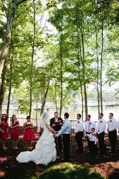 Kristin Anthony Lake Norman Wedding