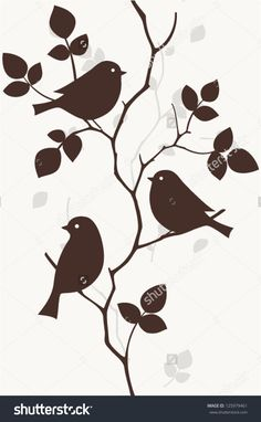 Find Pattern with birds seamless stock vectors and royalty free photos in HD. Explore millions of stock photos, images, illustrations, and vectors in the Shutterstock creative collection. Vogel Silhouette, Bird Silhouette, Bird Stencil, Damask Stencil, Stencil Patterns, Fabric Painting, Faux Painting, Bird Art, Paper Art